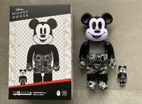 Medicom Toy BE@RBRICK BAPE(R) MICKEY MOUSE MONOTONE Ver. 100% & 400% Japan New
