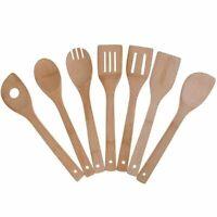 1X(Set di utensili da cucina in bambu', 7 pezzi di utensili da cucina Cucch K8C2