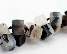 4mm anthrazit nenad-design E030 ca.95 HALBEDELSTEIN Perlen Obsidian Würfel ca