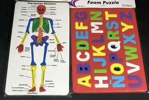 Alphabet Foam Puzzle New Human Skeletal System Foam Puzzle Multi-Clr Lightweight