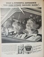 Lot of 3 Vintage 1954 Ethyl Corporation Ads High Octane Gasoline