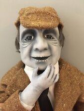 """Ooak Creepy Horror Doll Victorian Edwardian Sherlock Holmes 24"""" Zombie Dead Goth"""