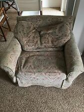 Rachel Ashwell slipcovered chair  Great condition with soft velour fabric