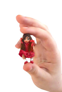 1.5'' OOAK hand made miniature very tiny doll's house little girl doll  1:24