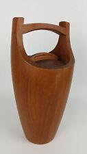 """Vintage Dansk Designs IHQ teak ice bucket 15.5"""" Denmark Quistgaard MidCentury"""