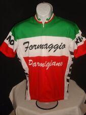 World Jerseys Formaggio Parmigiano Italia Cycling Jersey Mens Sz. L