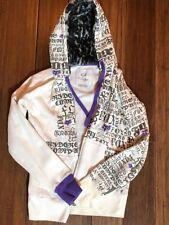whit and purple fox jacket fur inside hood Medium