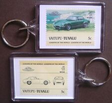 1961 LOTUS ELITE Car Stamp Keyring (Auto 100 Automobile)