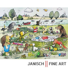 """JANOSCH - """"Geburtstagstorte für unsere Maus"""", handsigniert, Auflage 99, 2013!"""