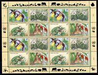 UNO Wien ZD-Bogen MiNr. 205-08 postfrisch MNH gefährdete Arten (G442