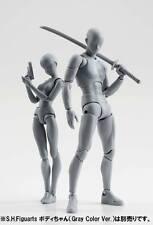 2PCS Body DX Set Chan Female Kun Male Gray Variable Doll PVC Figure SHF Figuarts