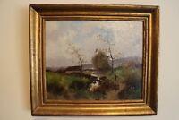 oil on canvas  E. Galien Laloue /L.L. Dupuy landscape /river scene  french art