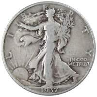 1937 Liberty Walking Half Dollar VG Very Good 90% Silver 50c US Coin Collectible