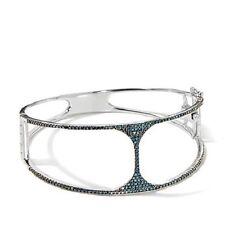 Rarities Fine Jewelry Carol Brodie 0.79ct  Blue Diamond Negative Space Bracelet