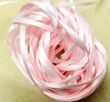 Craft Sew Knit Braid Narrow Double-sided Ribbon 10 metres 2mm Palest Pink
