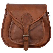 Vintage Leather Handmade Messenger Retro Cross Body Slim Satchel Women Bag