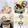 Cake Topper Card Happy Birthday Cake Decor Acrylic Party Wedding Supplies