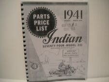1941 Indian Chief 74--Model 341 Parts Manual