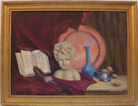 Vintage Still Life oil painting on canvas,  Framed, Signed