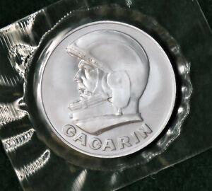 Yuri Gagarin 30th Anniversary Medal, Space Flown Metal, 1991
