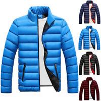 Men Packable Down Jacket Ultralight Stand Collar Puffer Coat Winter Warm Outwear