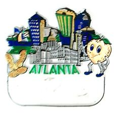Used Atlanta Georgia Souvenir Fridge Magnet With Blank Name Tag