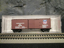 N Scale lots-1-MTL #39210 Union Pacific 40' wood sheathed boxcar (UP-20-WS)
