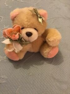 Hallmark Forever Friends Small Bear With Bow And Bouquet