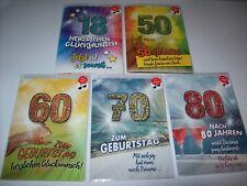 Glückwunschkarte mit Musik Soundkarte DIN A5 18./50./60./70./80. Geburtstag