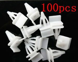 100x Rocker Panel Moulding Clip Rivet Retainer For Acura For Honda Civic Accord