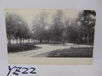 VINTAGE POSTED POSTCARD STAMP 1908 PICTURE WINONA LAKE INDIANA IN PARK FOUNTAIN