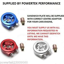 Sandwich Plate Adaptor Oil Temp / Pressure For any Honda + Civic Integra Type R
