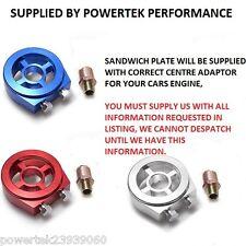 Sandwich Plate Adaptor Oil Temp / Pressure For any Honda + Civic Integra Type R