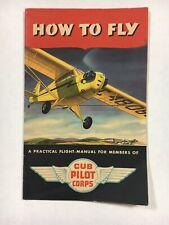How To Fly Cub Pilot Flight Manual 1942