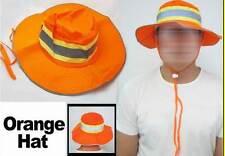 Booney Hat Orange Silver Reflective Tape Gear Safety Fishing Sun Shade L/XL Bike