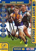 ✺Signed✺ 2018 WEST COAST EAGLES AFL Premiers Card LUKE SHUEY