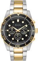 Bulova Mens 98A171 Quartz Marine Star Chronograph Black Dial Bracelet 43mm Watch