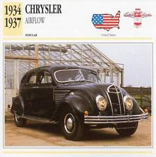 1934-1937 CHRYSLER AIRFLOW Classic Car Photograph / Information Maxi Card