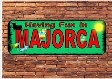 Majorca Vintage Style Novelty Wall Plaque Sign Metal Majorca Sign