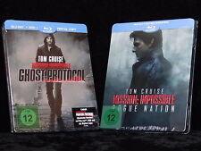 Mission Impossible: Ghost / Phantom Protocol & Rogue Nation Steelbook [Blu-ray]