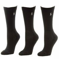 Polo Ralph Lauren Women's 3-Pairs Athletic Crew Socks Sz 9-11 Fits Shoe 4-10.5