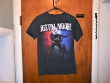 Justin Moore : Small Town Usa Tour T Shirt Small Size ( S ) Black