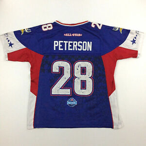 Minnesota Vikings Pro Bowl Adrian Peterson Women Jersey 28 Reebok NFL Football M