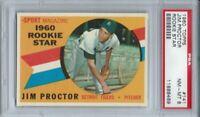 1960 TOPPS #141 JIM PROCTOR, PSA 8 NM-MT, DETROIT TIGERS ROOKIE STAR L@@K !
