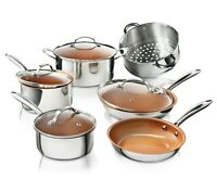 Gotham Steel Professional Chef Stainless Steel Nonstick 10-Piece Cookware Set