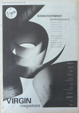 BANK STATEMENT : -Poster Size NEWSPAPER ADVERT- 1989 29cm X 39cm Genesis
