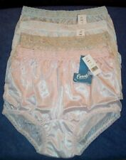 4 Pair Lace Elastic 100% Nylon Assorted Panties Size 6 Carole Panty USA Made