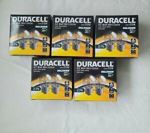 10 x DURACELL 42 Watt Mini Globe Eco Halogen Light Bulb E27 630 Lumen Warm White