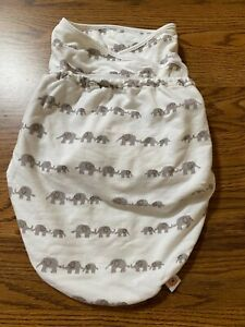 Ergo Baby Swaddle Elephants Swaddler ErgoBaby Swaddles Newborn Infant EUC