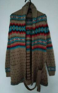 Polo Ralph Lauren Fair Isle Wool Blend Shawl Collar Cardigan - Size Medium